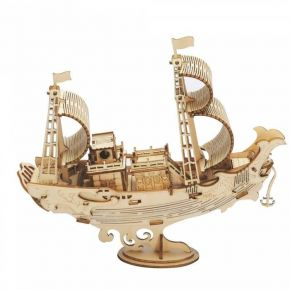 Robotime Ξύλινο Puzzle 3D Japanese Diplomatic Ship TG307