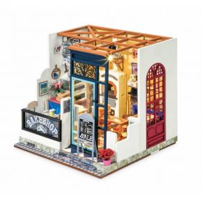 Robotime Ξύλινο Puzzle 3D Nancy's Bake Shop Happy Corner DIY Miniature House DG143