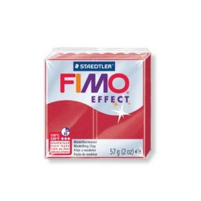 Staedtler Πηλός Fimo Effect Metallic Ruby Red 8020-28 57gr