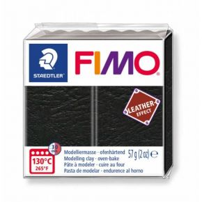 Staedtler Πηλός Fimo Leather Effect Black 8010-909 57gr