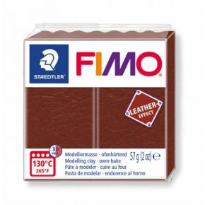 Staedtler Πηλός Fimo Leather Effect Nutty Brown 8010-779 57gr