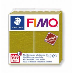 Staedtler Πηλός Fimo Leather Effect Olive Green 8010-519 57gr