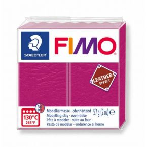 Staedtler Πηλός Fimo Leather Effect Raspberry 8010-229 57gr
