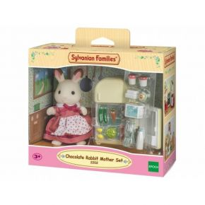 Sylvanian Families 5014 Chocolate Rabbit Μαμά & Σετ Ψυγείου