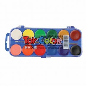 Toy Color Νερομπογιές 12 Τεμ.