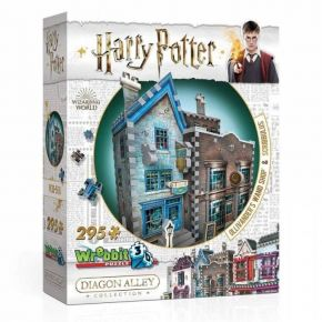 Wrebbit 3D Puzzle Harry Potter Olivander's Wand Shop & Scribbulus 295 τεμ.