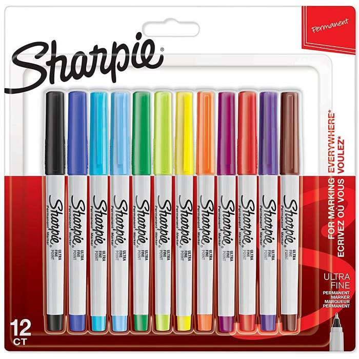 Sharpie Μαρκαδόροι Ζωγραφικής Permanent Markers Ultra Fine 0.3mm Blister 12 Τεμ.