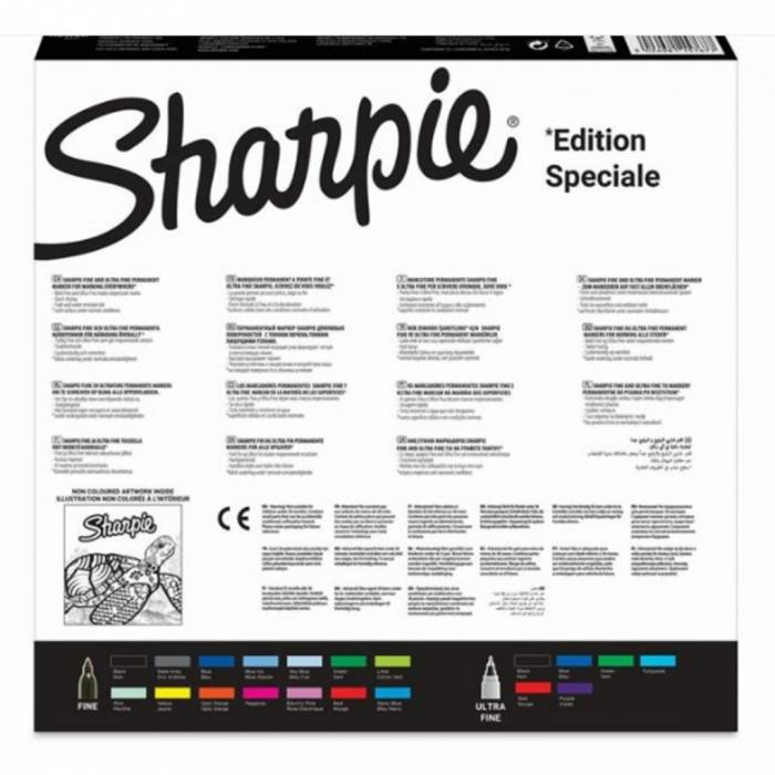 Sharpie Μαρκαδόροι Ζωγραφικής Pack Special Edition Turtle 20 Τεμ.