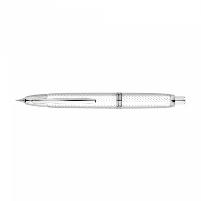 Pilot Πένα Capless 18Κ Graphite Rhodium Fine White Fountain Pen