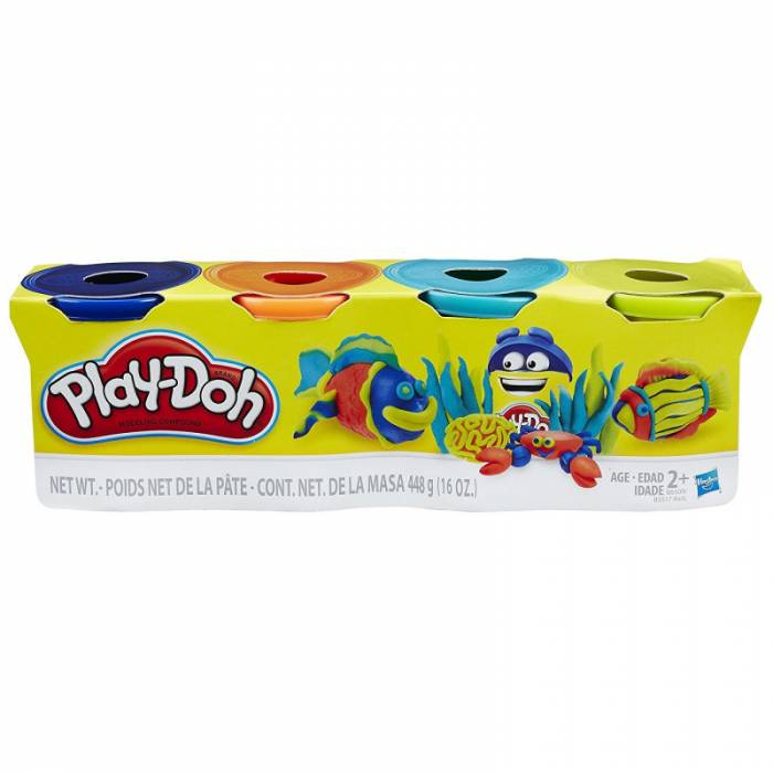 Hasbro Play-Doh 4 Βαζάκια 448gr