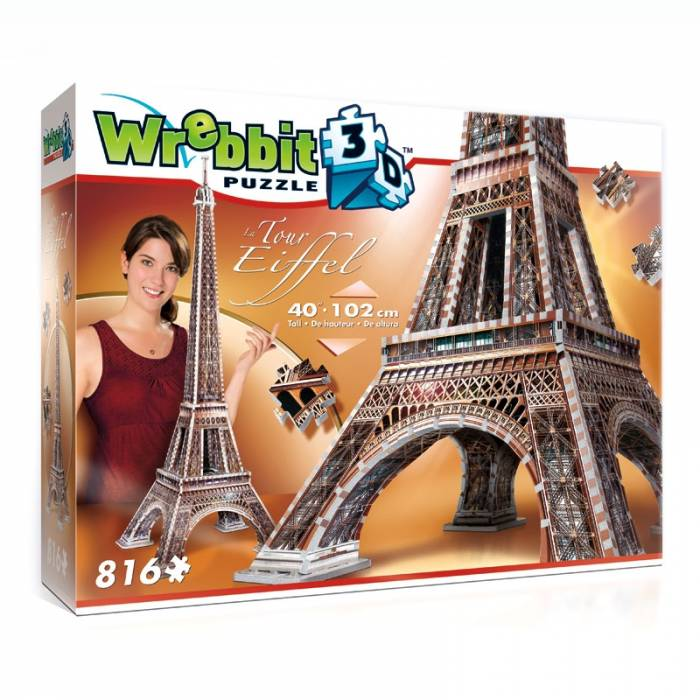 Wrebbit 3D Puzzle Eiffel Tower 816τεμ