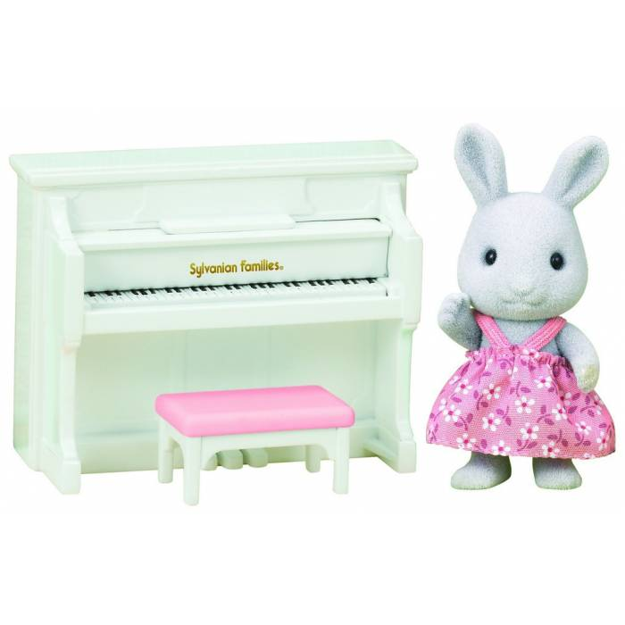 Sylvanian Families 5139 Rabbit Sister With Piano Set