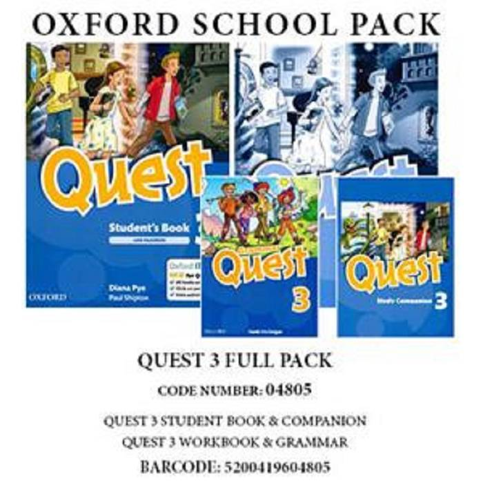 Quest 3 - Full Pack (Student's Book, Workbook, Companion, Grammar) 04805