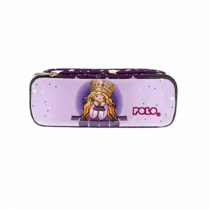Polo Κασετίνα Οβάλ Pencil Case Troller Princess