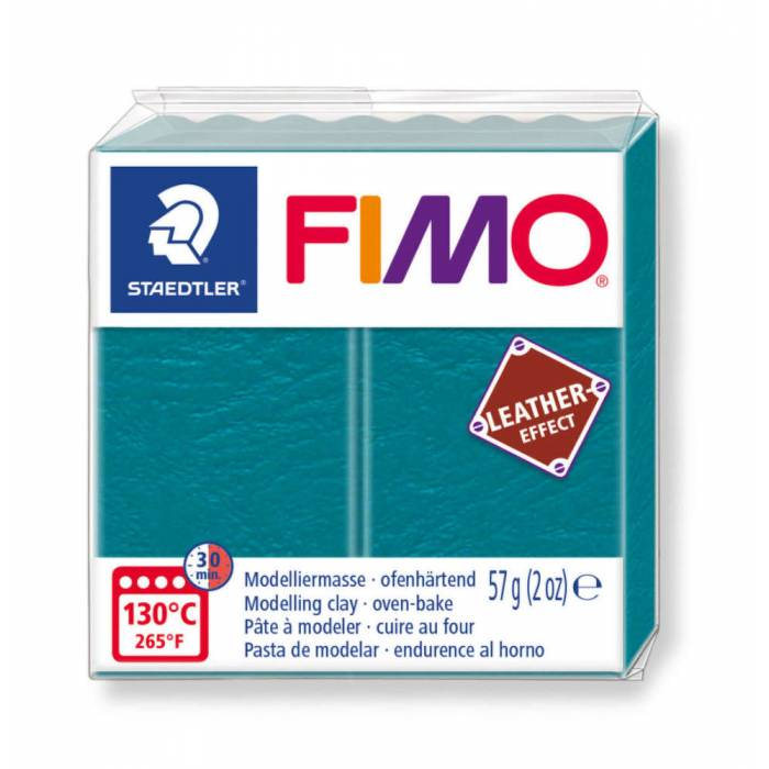 Staedtler Πηλός Fimo Leather Effect Green Lagoon 8010-369 57gr