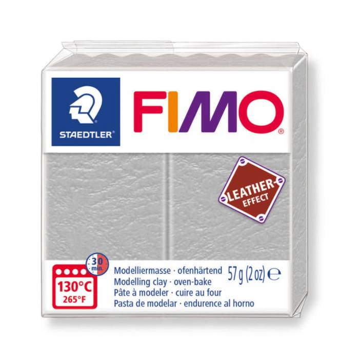 Staedtler Πηλός Fimo Leather Effect Dove Grey 8010-809 57gr