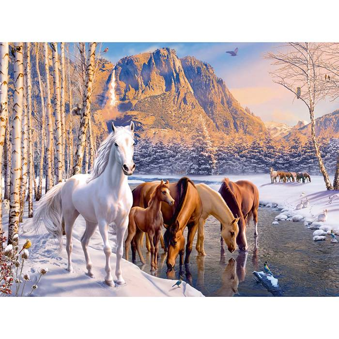 Ravensburger Παζλ Winter Horses 200XXL pcs 12690