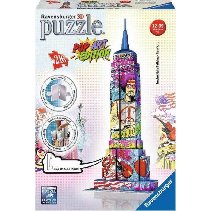 Ravensburger 3D Puzzle 216 τεμ. Empire State Building Pop Art Edition