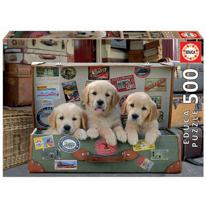 Educa Παζλ 500 τεμ. Puppies In The Luggage