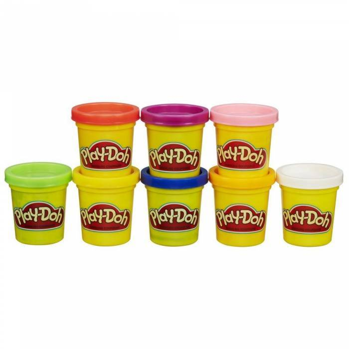 Hasbro Play-Doh Set Case Colors & Cans 8 Τεμ.