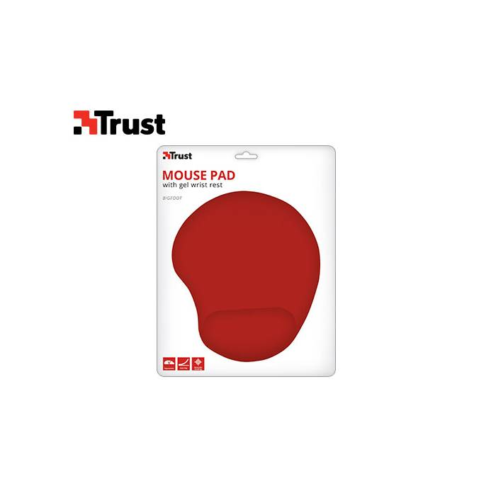 Trust Bigfoot Gel MousePad Red