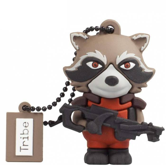 Tribe USB Flash Drive 16GB 2.0 3D Marvel Guardians Of The Galaxy Rocket Racoon