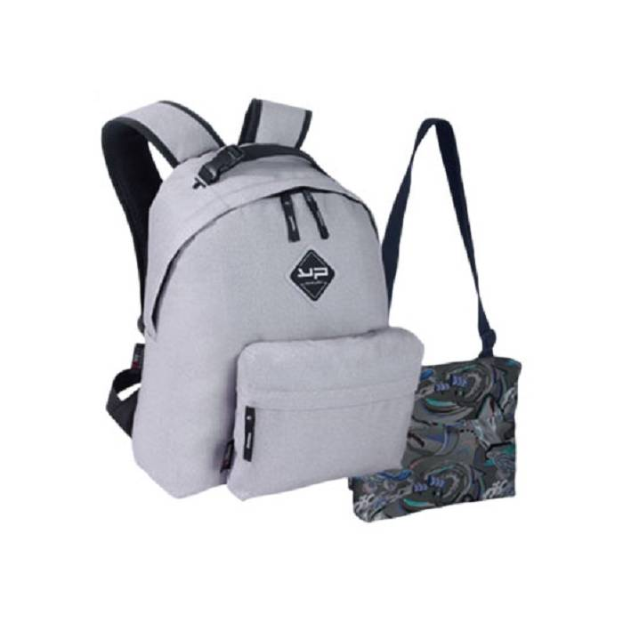 Bodypack Σακίδιο Πλάτης Με 2 Τσαντάκια Make My Pack Grey