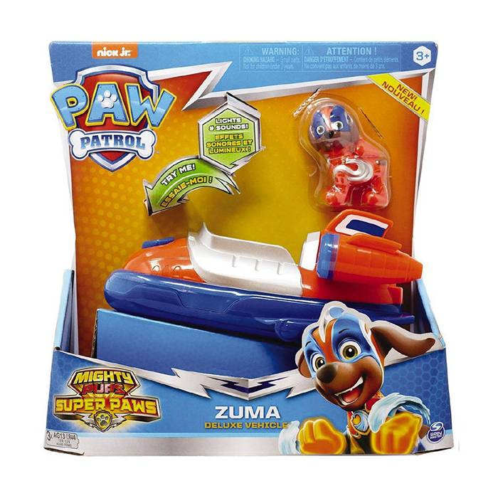 Spin Master Paw Patrol : Mighty Pups Super Paws - Zuma Deluxe Vehicle