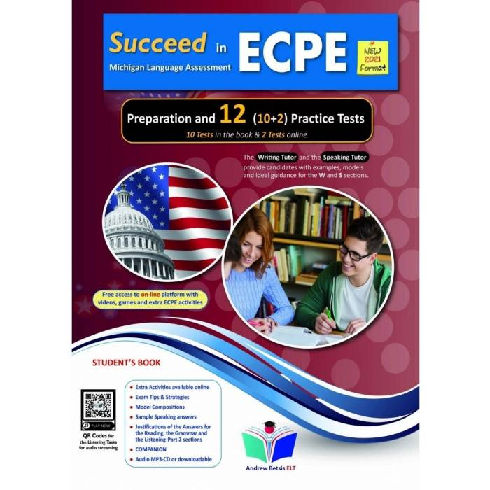 Succeed In Michigan ECPE 12 Practice Tests 2021 Format