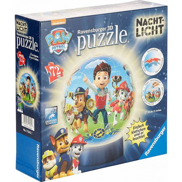 Ravensburger 3D Puzzle Μπαλαλάμπα Τρέλα 108 τεμ. Paw Patrol