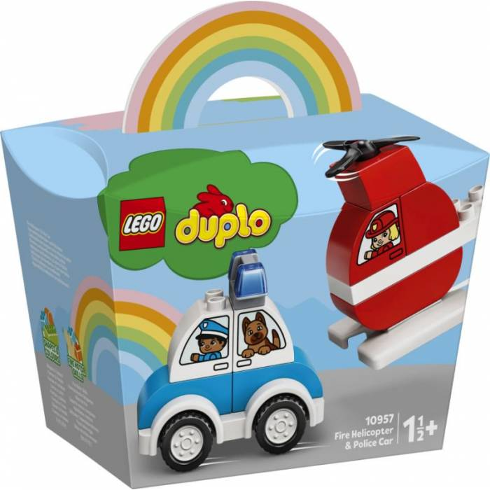 Lego 10957 Duplo My First Fire Helicopter And Police Car