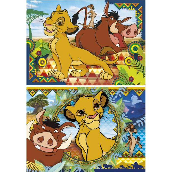 Clementoni Παζλ 2x60 Τεμ. Supercolor Puzzle Disney Lion King