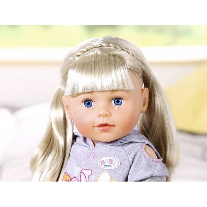 Zapf Κούκλα Baby Born Soft Touch Sister Blond 43cm
