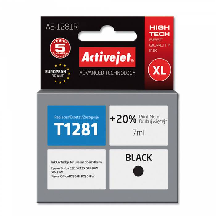 Activejet Μελάνι Epson T1281 Black