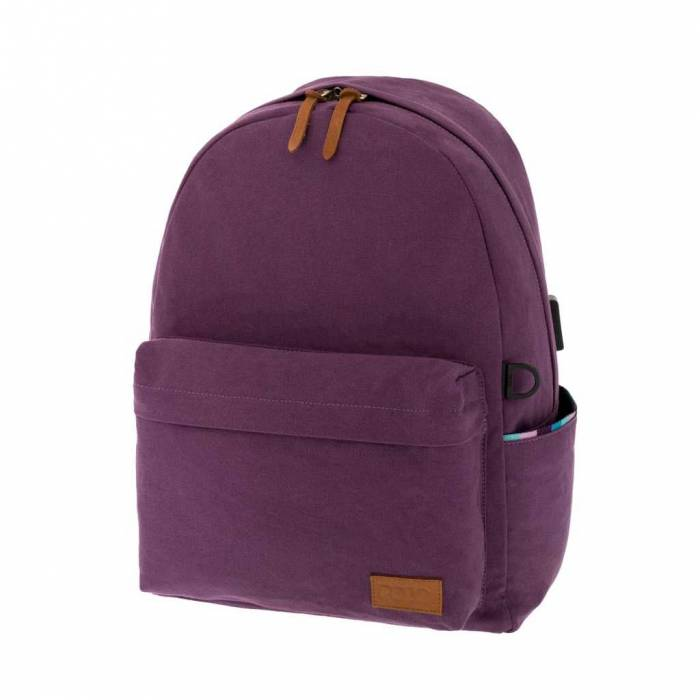 Polo Σακίδιο Πλάτης Backpack Canvas Μωβ