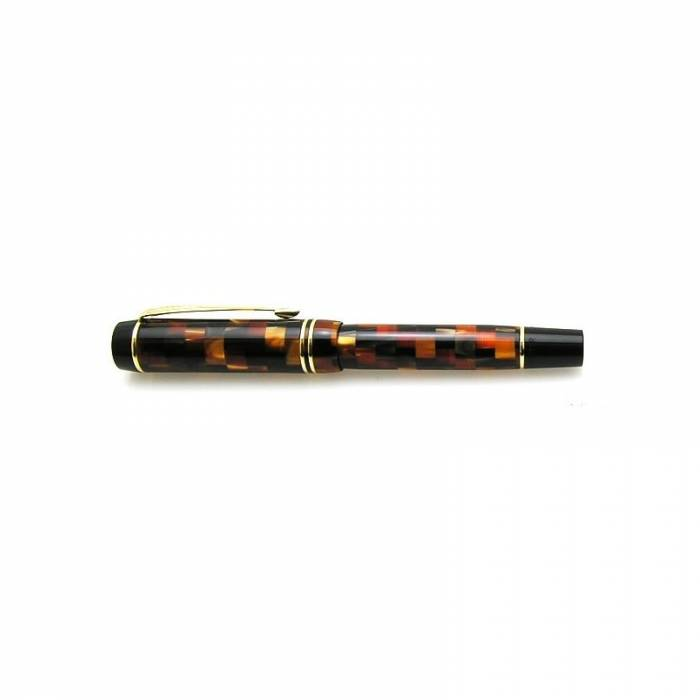 Parker Duofold Check Amber GT Demi Size Fountain Pen