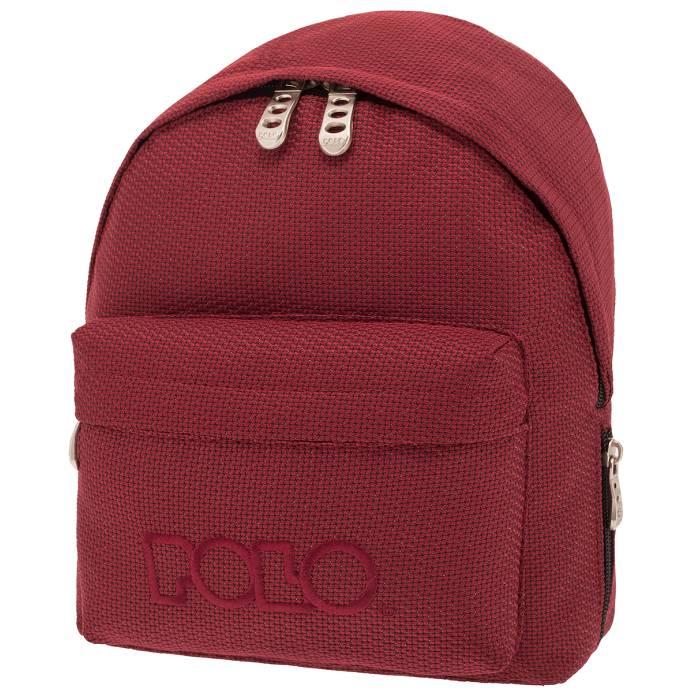 ddca938d75 Polo Τσάντα Πλάτης Νηπίου Backpack Mini Κόκκινο Πλεκτό Knit 2019 - e ...