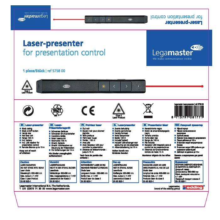 Legamaster Δείκτης Laser Presenter And Red Laser Pointer