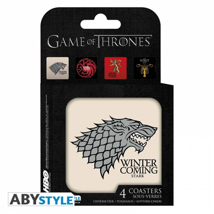 ABYstyle Σουβέρ Οίκοι Του Game Of Thrones 4 Τεμάχια