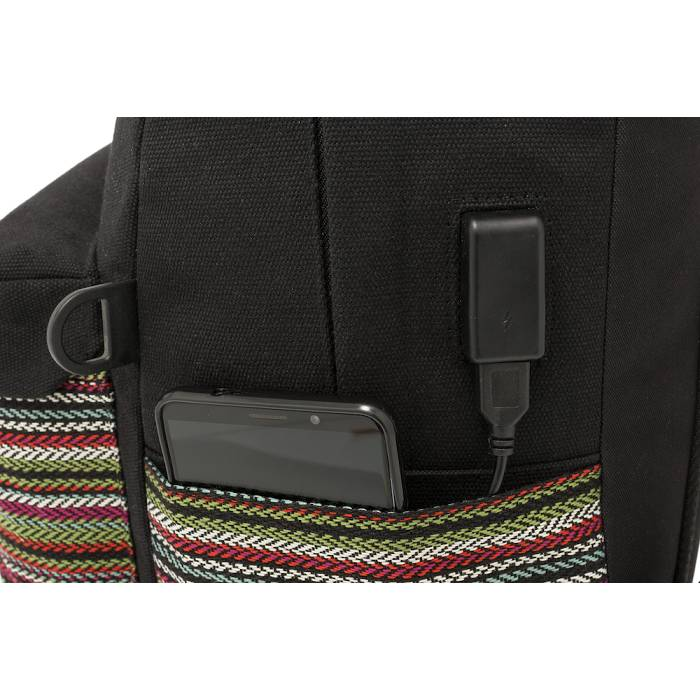 Polo Σακίδιο Πλάτης Backpack Canvas Tribal Black