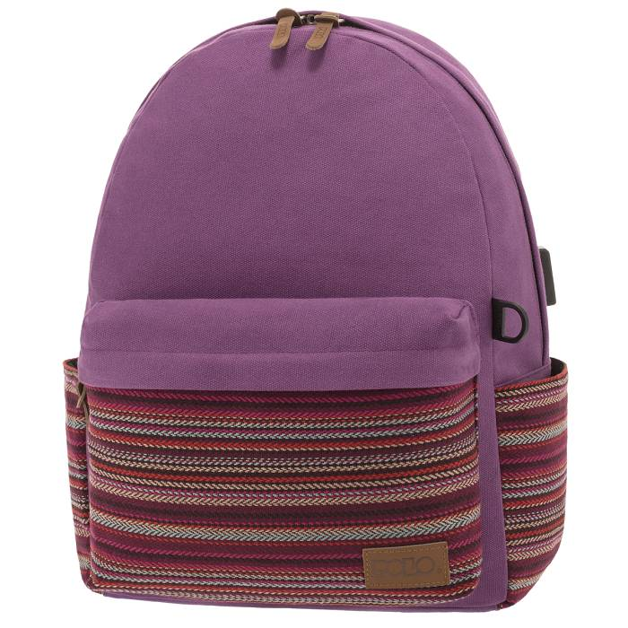 Polo Σακίδιο Πλάτης Backpack Canvas Tribal Purple