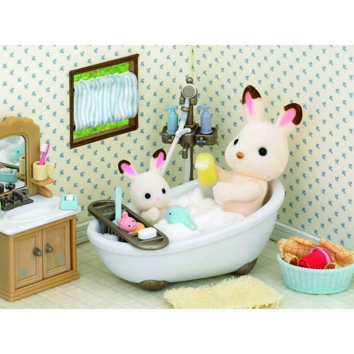 Sylvanian Families 5034 Bath Room Set