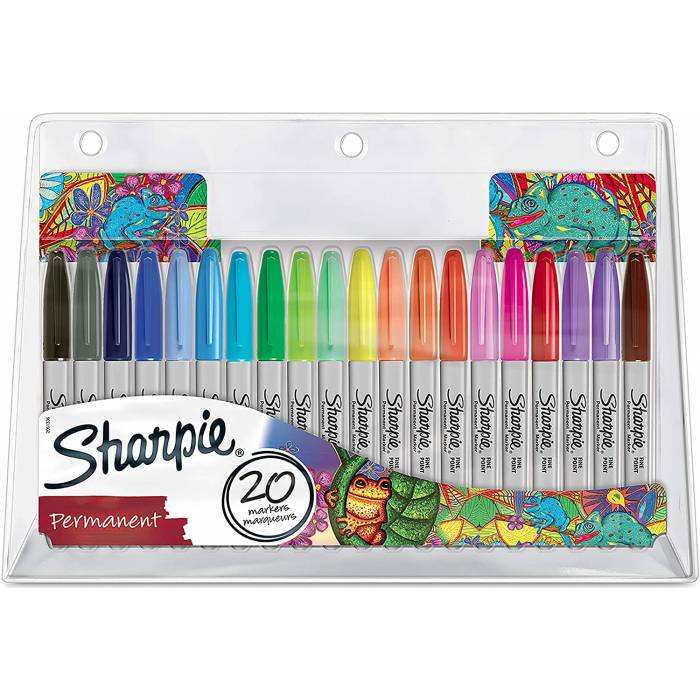 Sharpie Μαρκαδόροι Ζωγραφικής Permanent Markers Fine 0.9mm Blister 20 Τεμ.