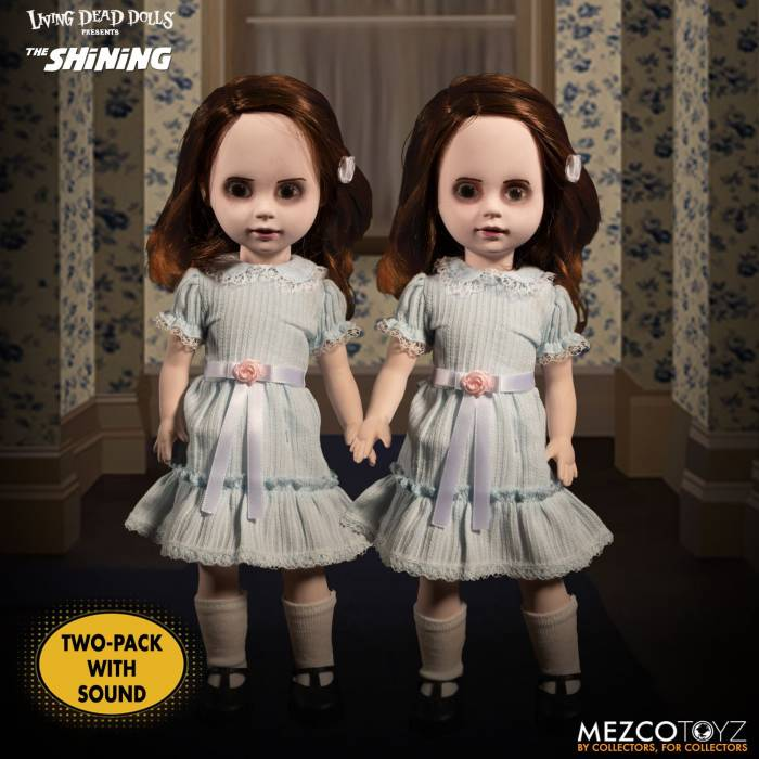 Hollytoon Mezco Toyz Living Dead Dolls Presents The Shining: Talking Grady Twins 25cm